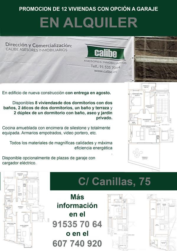 ¡¡ATENCION!! PROMOCIÓN DE 12 VIVIENDAS DE NUEVA CONSTRUCCIÓN EN ALQUILER